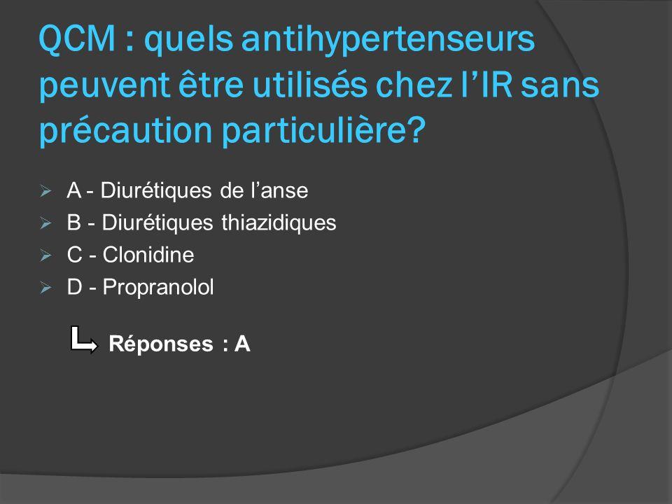 Cas clinique : IC Contexte clinique : Mme L, 71 ans, 68kg pour 1,65m Insuffisance cardiaque + Dyspnée deffort + Oedèmes Fonction rénale normale (Cl créat = 96mL/min) Ordonnance : Kredex ® (Carvédilol) 6,25mg : 1 cp matin et soir Aldactone ® (Spironolactone) 50mg : 1 cp par jour Acuitel ® (Quinapril) 20mg : 1 cp par jour Lasilix ® (Furosémide) 20mg : 1 cp par jour Diffu-K ® (Chlorure de potassium) : 1 gélule par jour Objectifs thérapeutiques : Kredex, Aldactone, Acuitel, Lasilix : ttt IC et oedèmes Diffu-K : ttt hypokaliémie