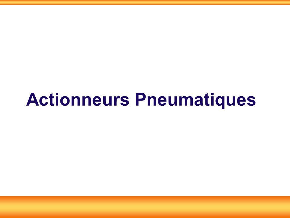 Actionneurs pneumatiques Les actionneurs pneumatiques convertissent lénergie de puissance pneumatique en énergie mécanique de translation, de rotation, daspiration.