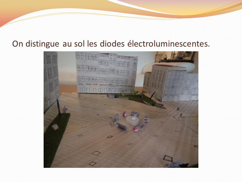 On distingue au sol les diodes électroluminescentes.