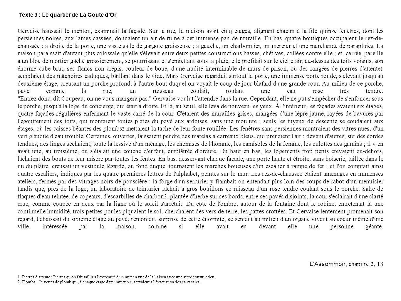 Etape 1 : Le Roman Diapo 1 : présentation générale De quel roman de Zola votre texte est-il extrait .