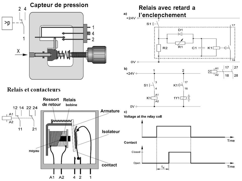 Relais et contacteurs Relais avec retard a lenclenchement Capteur de pression