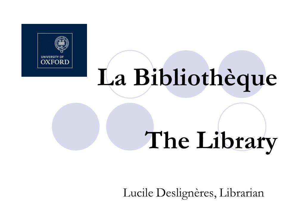 La Bibliothèque The Library Lucile Deslignères, Librarian