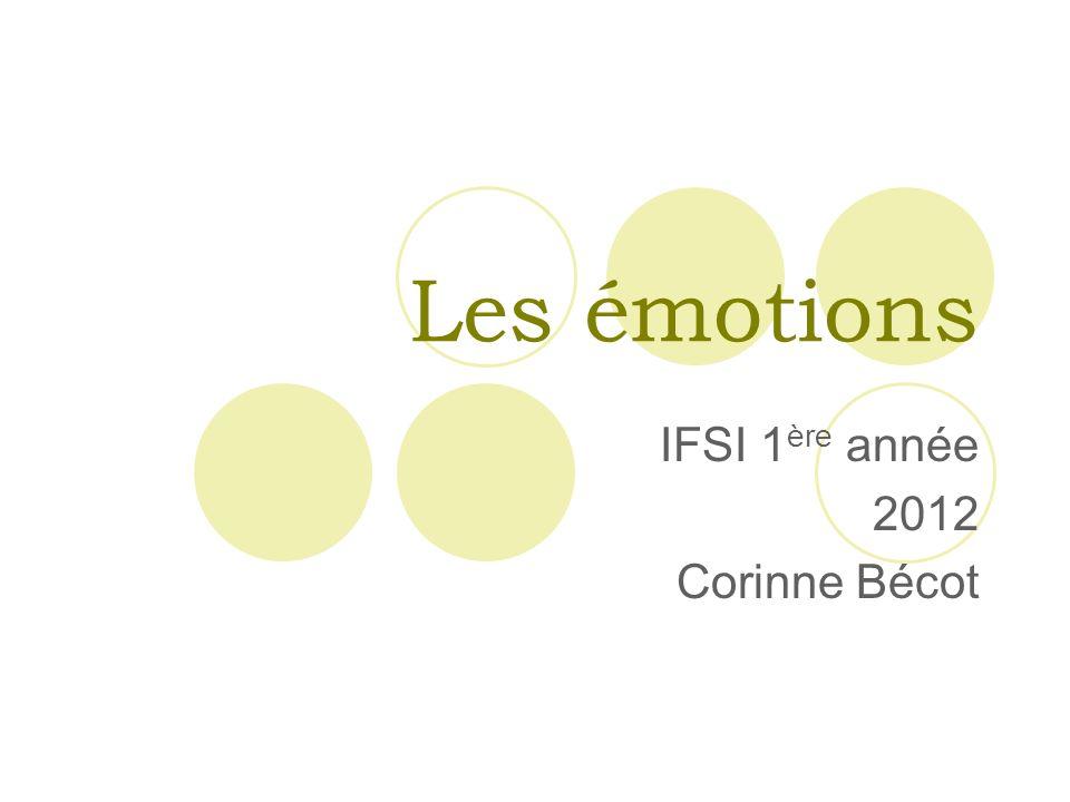 Les émotions IFSI 1 ère année 2012 Corinne Bécot