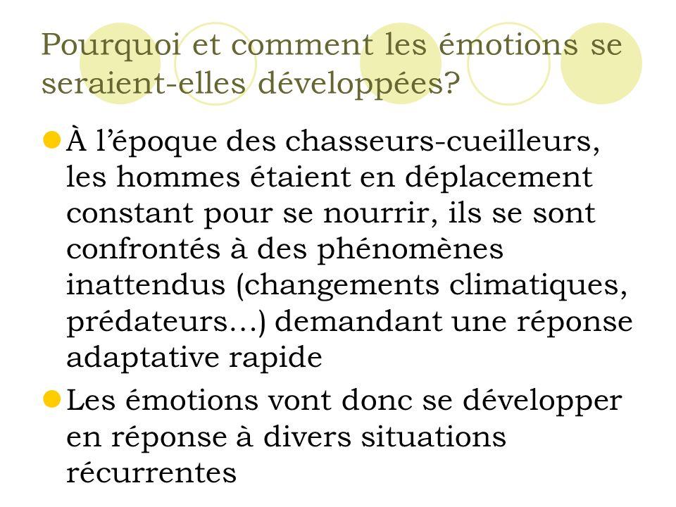 Pourquoi et comment les émotions se seraient-elles développées.
