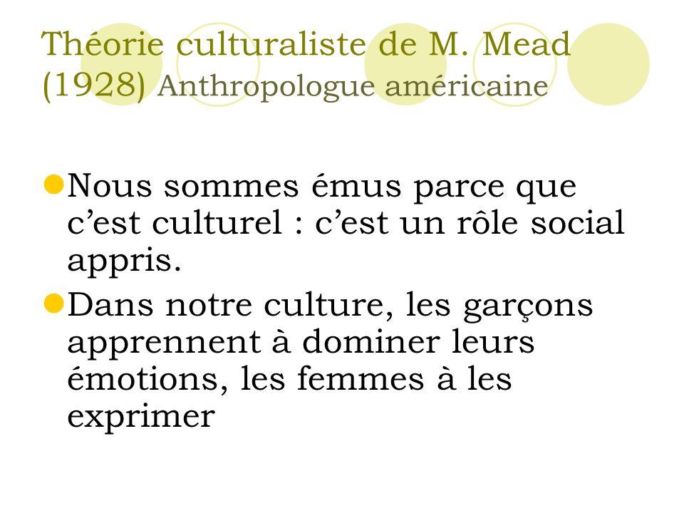 Théorie culturaliste de M.
