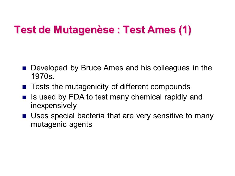 Characteristics of mutants strains of S.typhimurium used for Ames Test cannot synthesize histidine.