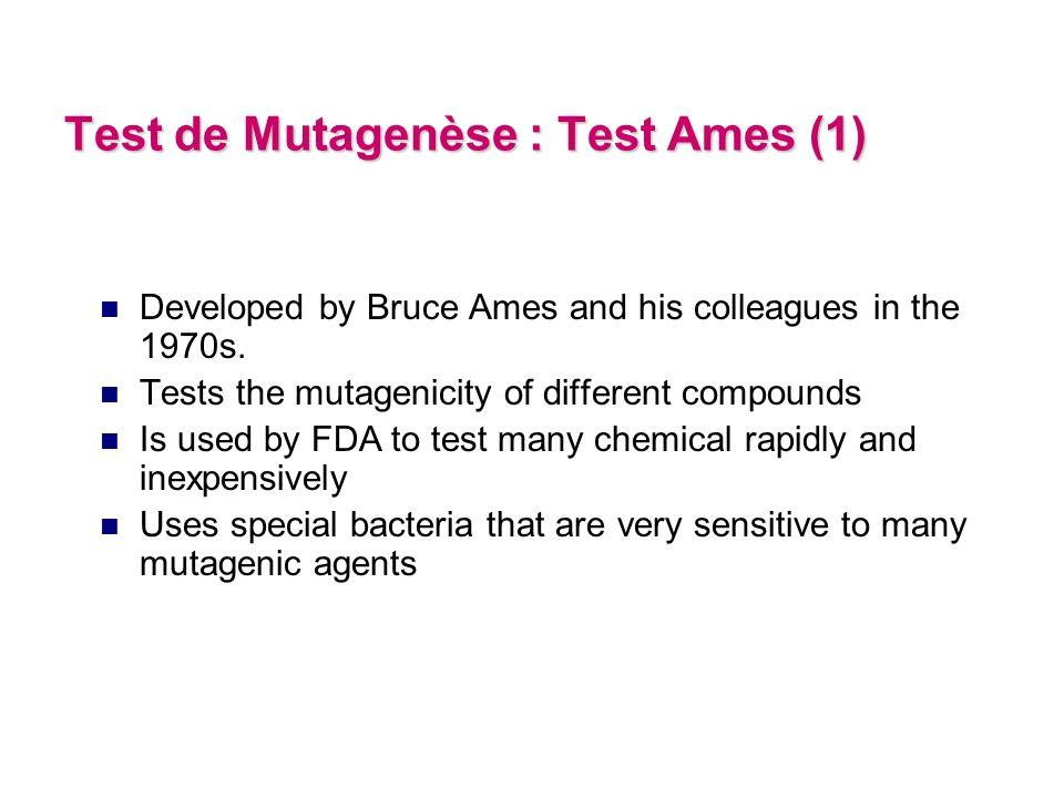 Fusions centriques Cassures Test dAberrations Chromosomiques