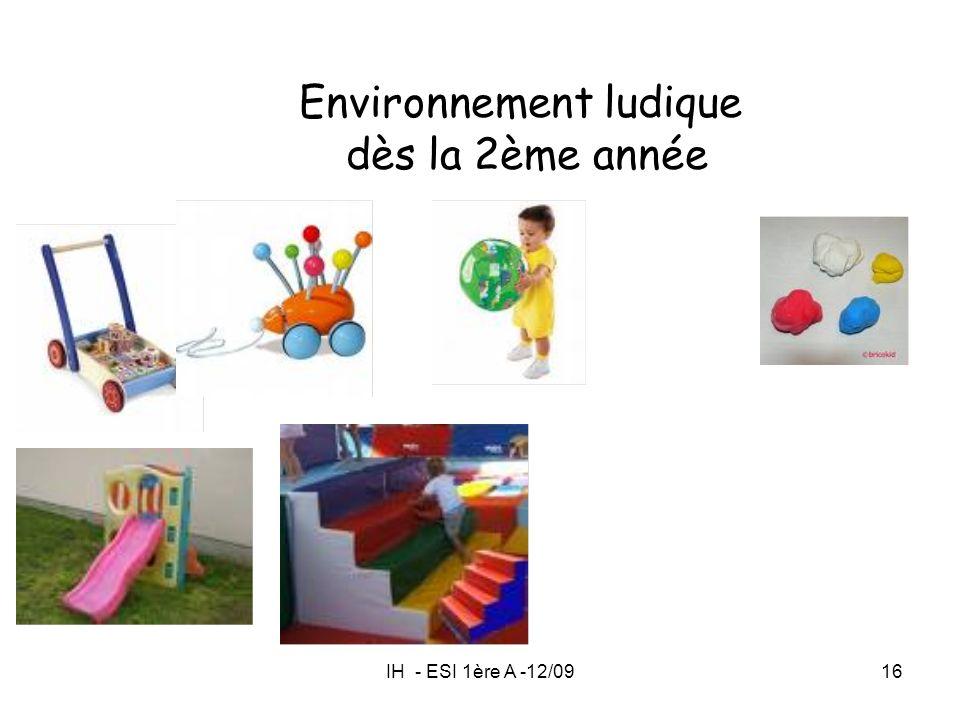 IH - ESI 1ère A -12/0916 Environnement ludique dès la 2ème année