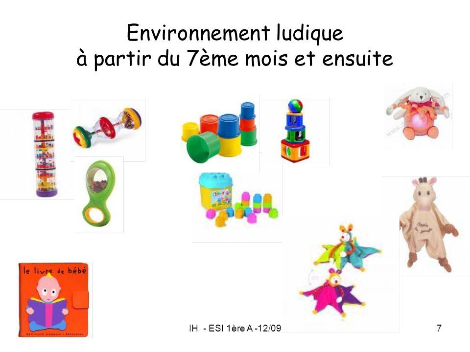 IH - ESI 1ère A -12/097 Environnement ludique à partir du 7ème mois et ensuite