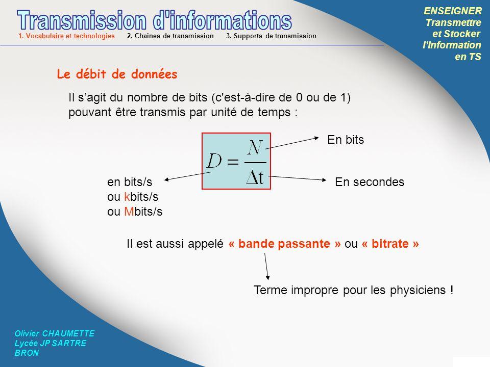 ENSEIGNER Transmettre et Stocker lInformation en TS Olivier CHAUMETTE Lycée JP SARTRE BRON Ligne RTC: Réseau Téléphonique Commuté Cest le réseau téléphonique classique, composé de fils de cuivres.