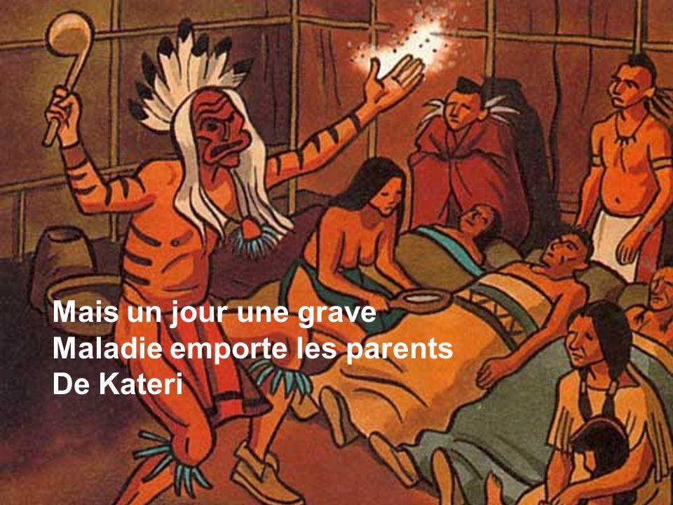 Le jour de la foire, les indiens Vendent des peaux de castors.