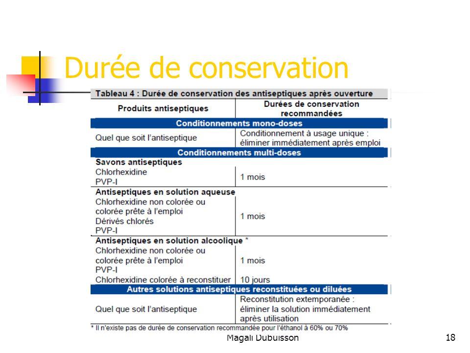 Magali Dubuisson18 Durée de conservation