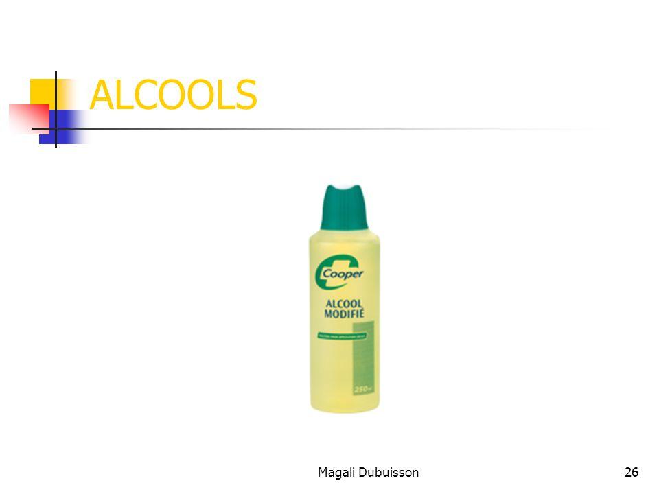 Magali Dubuisson26 ALCOOLS