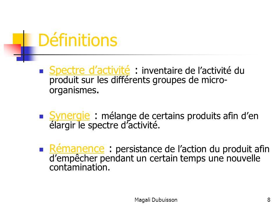Magali Dubuisson9 Les m é canismes d action Action sur la paroi bact é rienne Action sur la membrane Action sur les enzymes de la synth è se prot é ique Action sur les acides nucl é iques