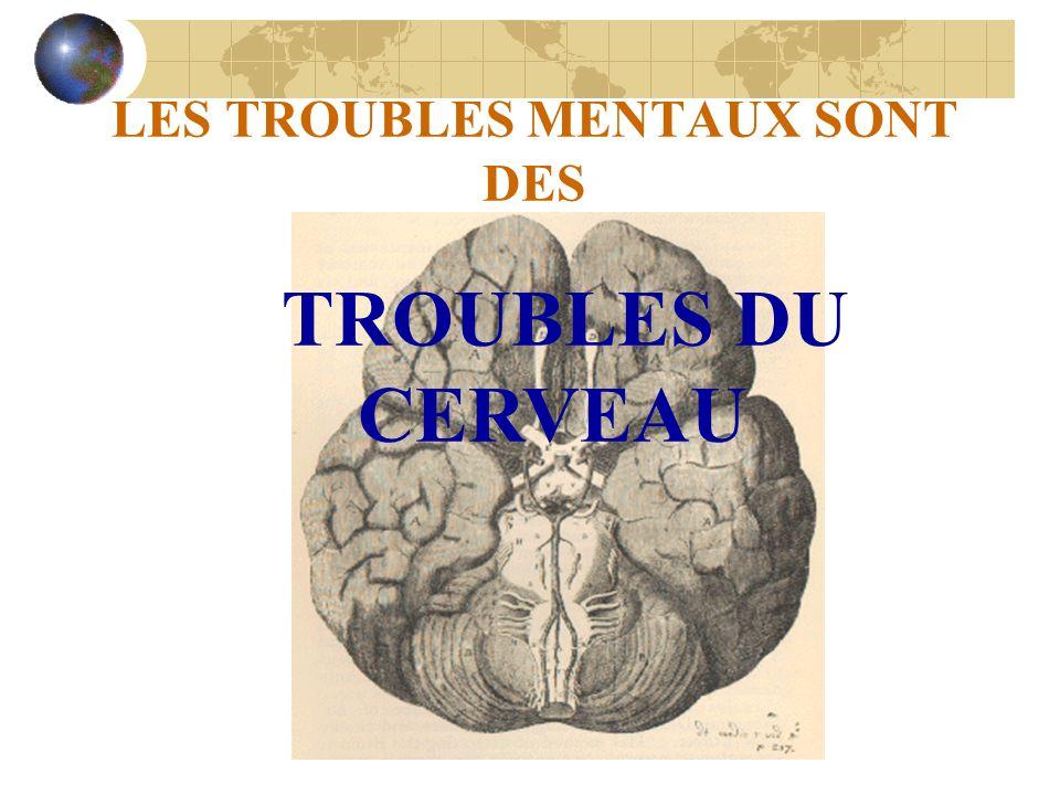 LES TROUBLES MENTAUX SONT DES TROUBLES DU CERVEAU
