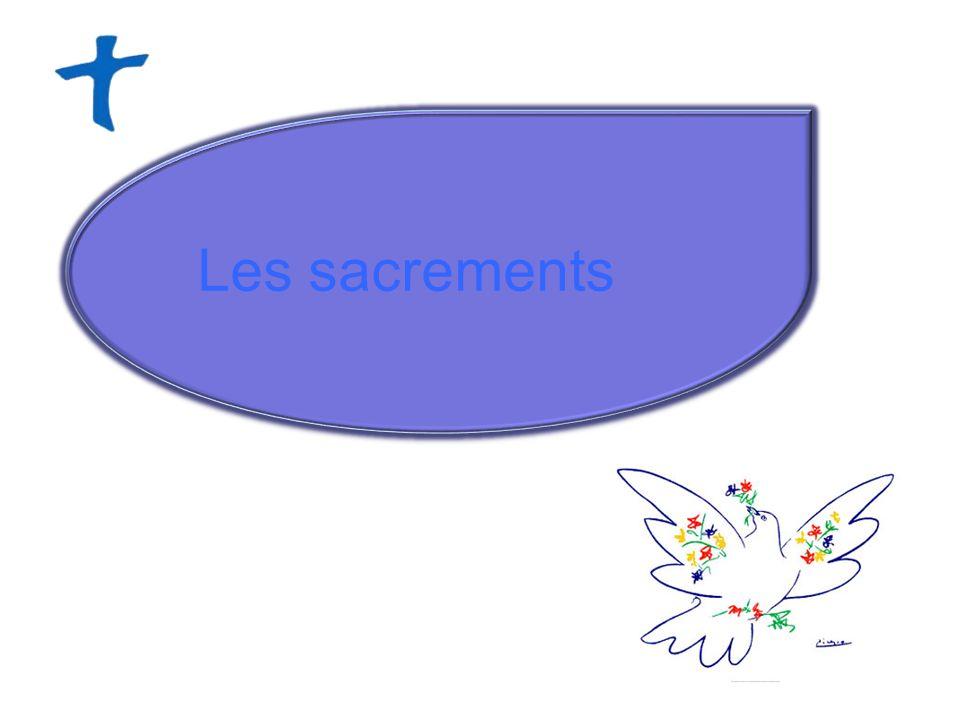 Les sacrements sont au nombre de sept et peuvent se répartir en trois catégories : les sacrements de linitiation chrétienne - le baptême, - leucharistie - la confirmation les sacrements de guérison - le sacrement de pénitence/réconciliation - lonction des malades les sacrements au service de la communion - le sacrement de lordre, - le mariage