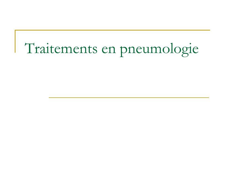Principales classes thérapeutiques Antiasthmatiques Mucolytiques Antitussifs Surfactants pulmonaires Analeptiques respiratoires