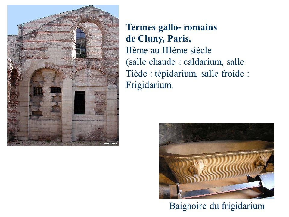 Baignoire du frigidarium Termes gallo- romains de Cluny, Paris, IIème au IIIème siècle (salle chaude : caldarium, salle Tiède : tépidarium, salle froi