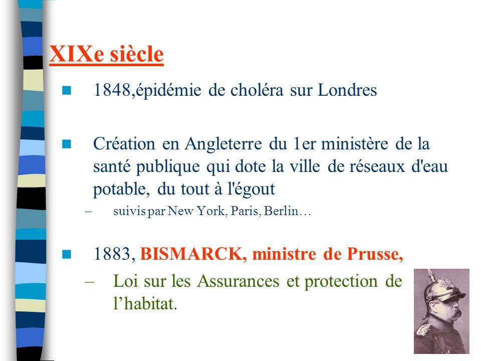 22 XIXe siècle 1848,épidémie de choléra sur Londres Création en Angleterre du 1er ministère de la santé publique qui dote la ville de réseaux d'eau po