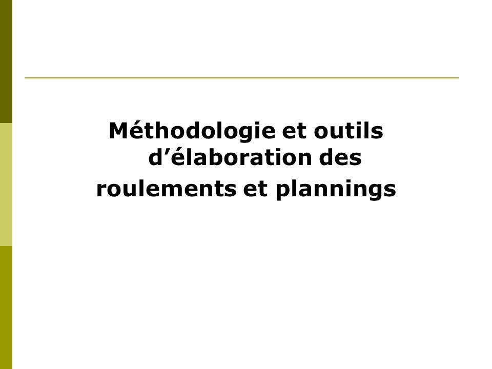 Méthodologie et outils délaboration des roulements et plannings