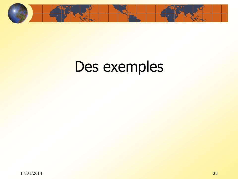 17/01/201433 Des exemples 33