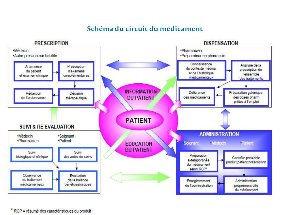 4 Schéma du circuit du médicament 4
