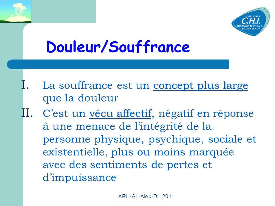 ARL- AL-Alep-DL 2011 6 Douleur/Souffrance concept plus large I.
