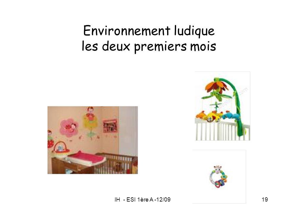 IH - ESI 1ère A -12/0919 Environnement ludique les deux premiers mois