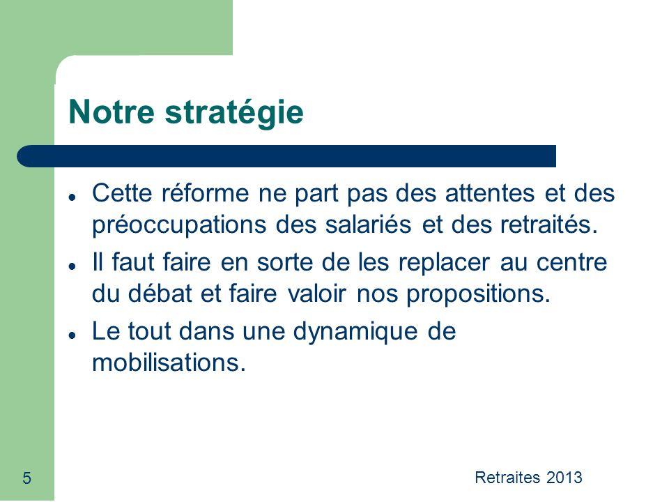 5 Notre stratégie Cette réforme ne part pas des attentes et des préoccupations des salariés et des retraités.