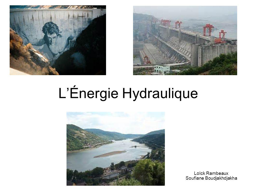LÉnergie Hydraulique Loïck Rambeaux Soufiane Boudjakhdjakha