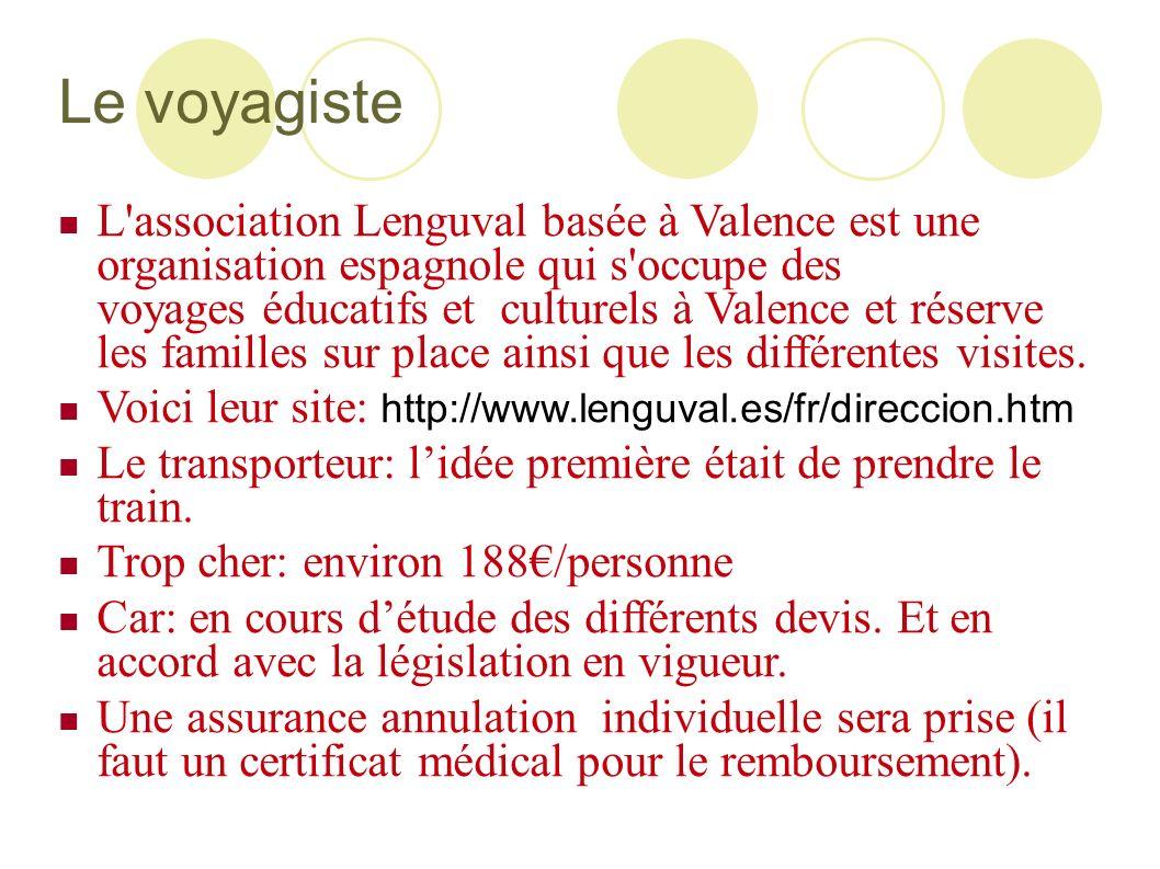 Le voyagiste L'association Lenguval basée à Valence est une organisation espagnole qui s'occupe des voyages éducatifs et culturels à Valence et réserv