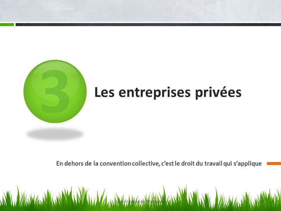 3 Les entreprises privées En dehors de la convention collective, cest le droit du travail qui sapplique Les Francas de Bretagne27