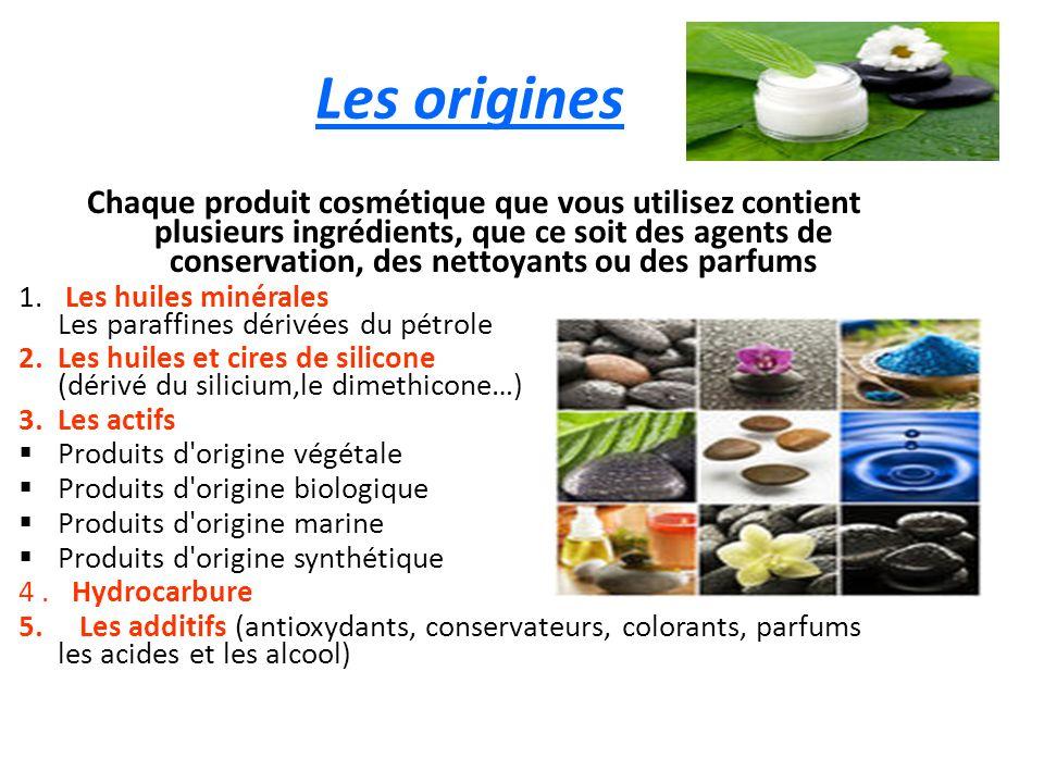 Les origines Chaque produit cosmétique que vous utilisez contient plusieurs ingrédients, que ce soit des agents de conservation, des nettoyants ou des