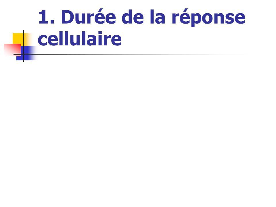 1. Durée de la réponse cellulaire