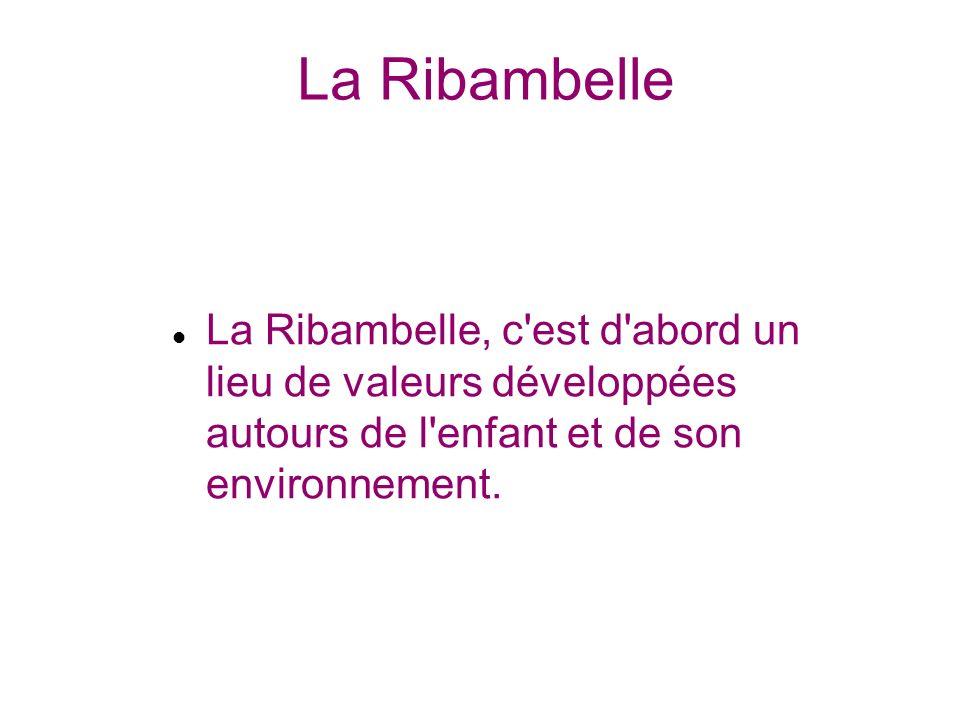 La Ribambelle La Ribambelle, c'est d'abord un lieu de valeurs développées autours de l'enfant et de son environnement.