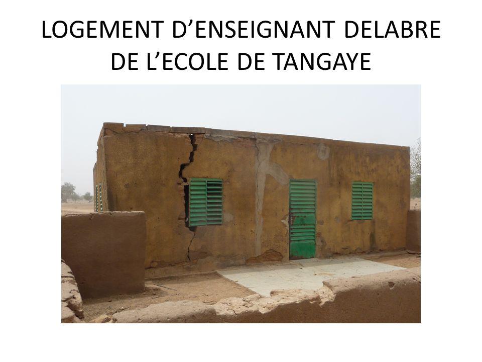 LOGEMENT DENSEIGNANT DELABRE DE LECOLE DE TANGAYE