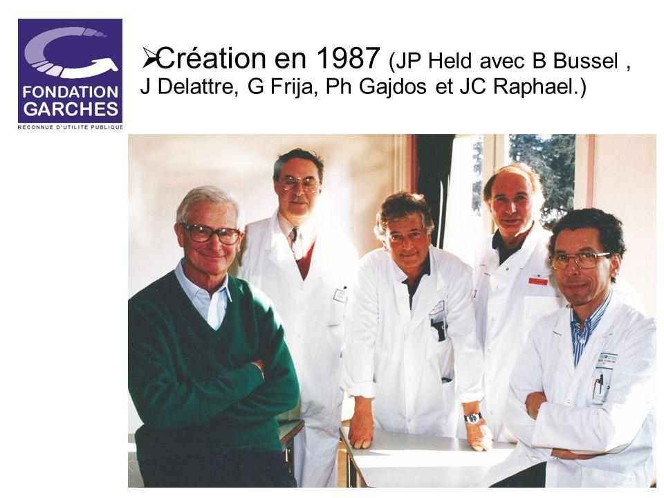 Création en 1987 (JP Held avec B Bussel, J Delattre, G Frija, Ph Gajdos et JC Raphael.)