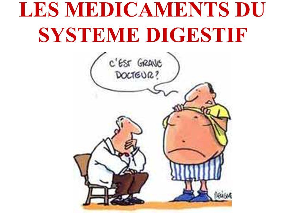 LES MEDICAMENTS DU SYSTEME DIGESTIF