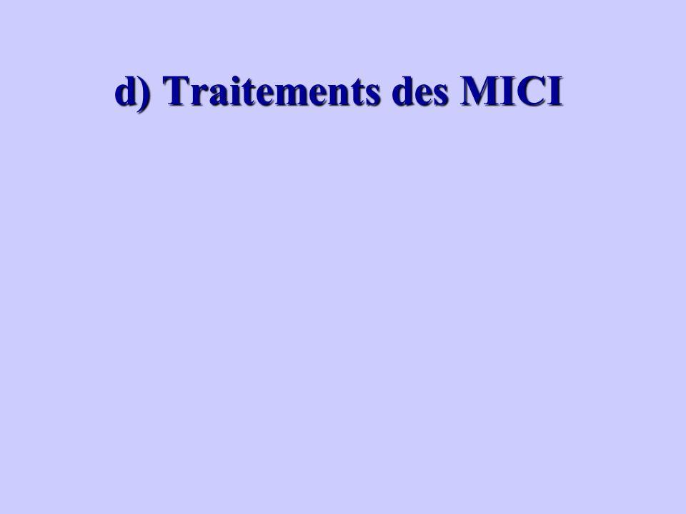 d) Traitements des MICI d) Traitements des MICI