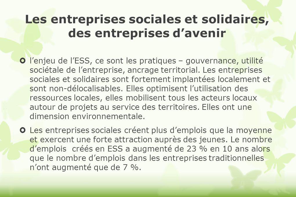 Les entreprises sociales et solidaires, des entreprises davenir lenjeu de lESS, ce sont les pratiques – gouvernance, utilité sociétale de lentreprise,