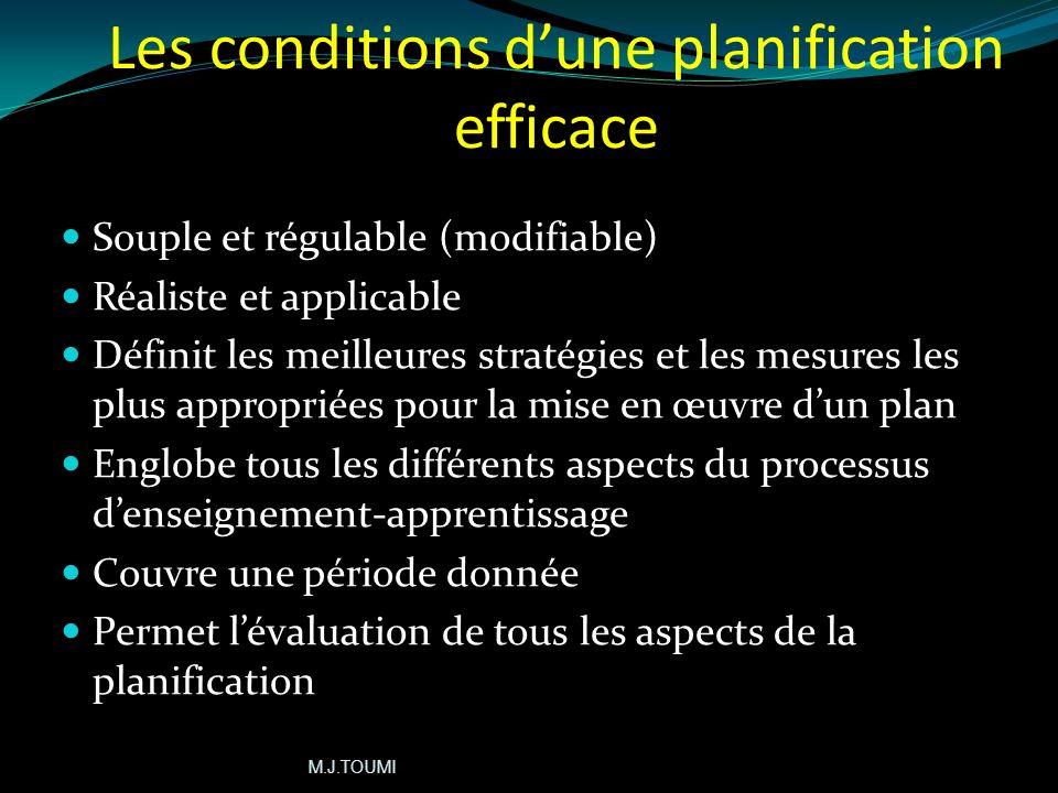 Importance de la planification dans le processus denseignement-apprentissage donne du sens au processus denseignement Définit et éclaircit les compéte