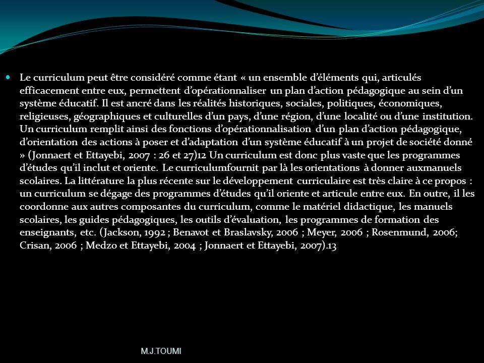 Curriculum /curricula (1) (1) A;HAROUCHI, La pédagogie des compétences, Le fenec, 2000, p.310 Cest un mot latin, carrière: Ce terme est utilisé aux US