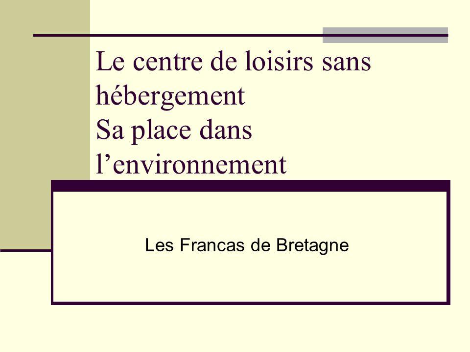 Le centre de loisirs sans hébergement Sa place dans lenvironnement Les Francas de Bretagne