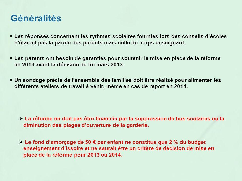 Propositions pour la réforme des rythmes scolaires à Issoire 19 Mars 2013 epyssoire@yahoo.fr