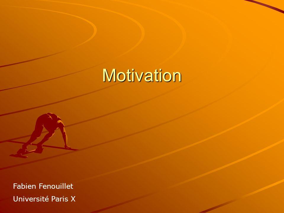 Stratégie Pour être en mesure de formuler des prédictions en terme de résultats précis, la seule étude des forces motivationnelles est le plus souvent insuffisante les théories motivationnelles ont mis en avant la place prépondérante que peuvent avoir les stratégies que les individus utilisent spontanément pour atteindre un certain niveau de performance et ce particulièrement lorsquils sont motivés Deux grandes catégories : stratégies cognitives (autorégulation, mnémonique…) et émotionnelles (pessimisme défensif, auto-handicap…)
