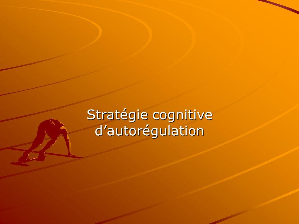 Deux ensembles de stratégies Les stratégies cognitives ont pour but de favoriser et de gérer lapprentissage :autorégulation et mnémonique.