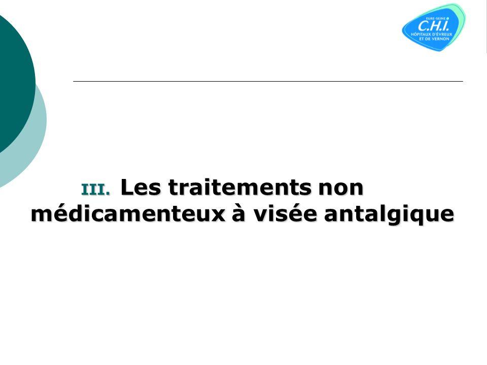 III. Les traitements non médicamenteux à visée antalgique
