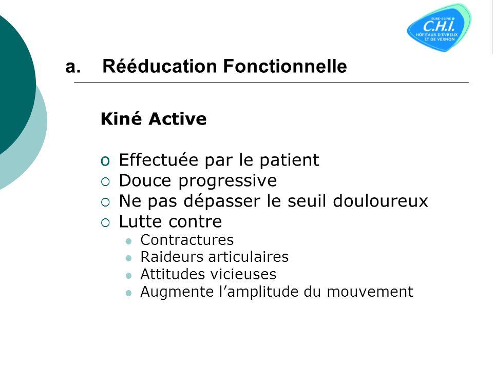 a. Les techniques fonctionnelles: La kinésithérapie La kinésithérapie Lergothérapie Lergothérapie Lostéopathie Lostéopathie b. Les techniques daccompa