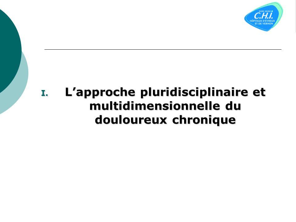 Plan I. Lapproche pluridisciplinaire et multidimensionnelle du douloureux chronique II. Les moyens « symptomatiques » à visée antalgique III. Les trai