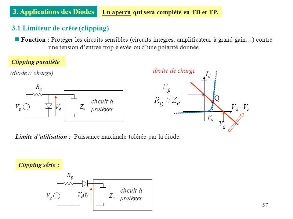 58 n Protection par diode : ê V max<0 ~ - 0.7V ê V A ~20,7V ê la conduction de la diode engendre un courant transitoire et diminue la tension inductive.